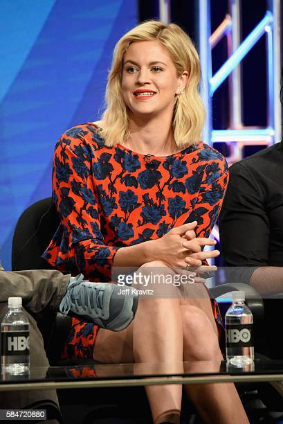 Actress Georgia King speaks onstage during the 'Vice Principals' panel discussion at the HBO portion of the 2016 Television Critics Association...