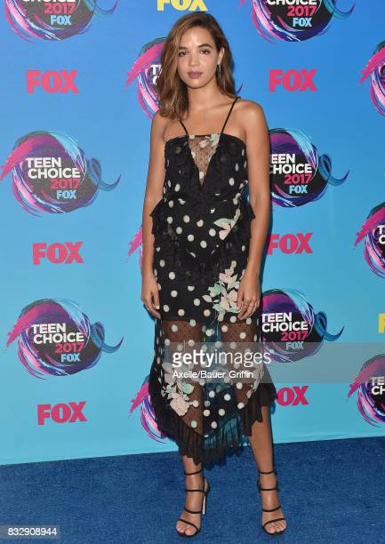 Actress Georgie Flores arrives at the Teen Choice Awards 2017 at Galen Center on August 13 2017 in Los Angeles California