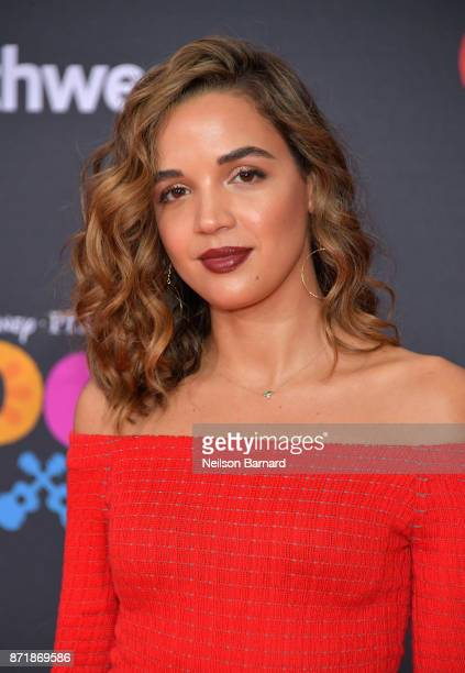 Actress Georgie Flores attends Disney Pixar's Coco premiere at El Capitan Theatre on November 8 2017 in Los Angeles California