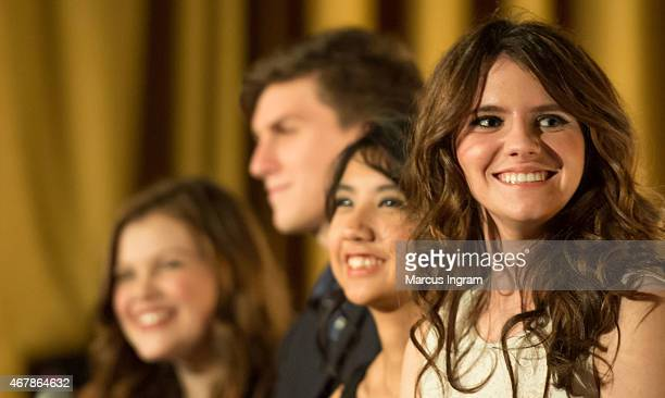 Actress Georgie Henley Actor Evan Kuzma Actress Willa Cuthrell and Actress Kara Hayward attend 2015 Atlanta Film Festival 'The Sisterhood Of Night'...