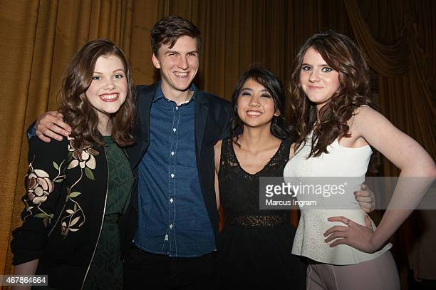 Actress Georgie Henley Actor Evan Kuzma Actress Willa Cuthrell and Actress Kara Hayward attend 2015 Atlanta Film Festival The Sisterhood Of Night QA...