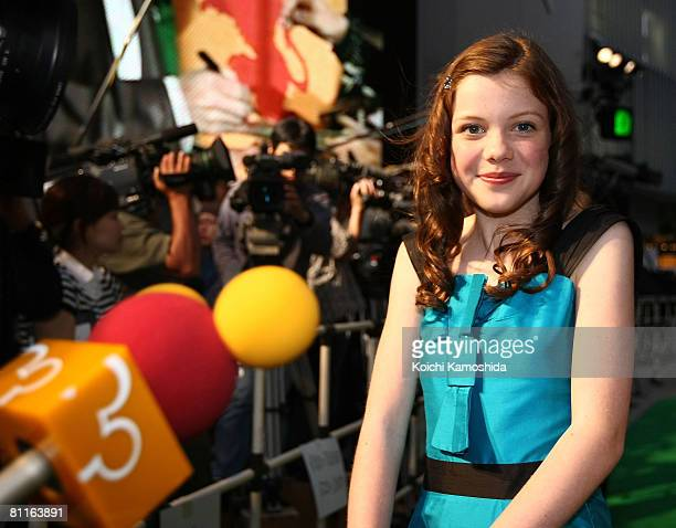 Actress Georgie Henley attends The Chronicles of Narnia Prince Caspian Japan Premiere at Roppongi Hills Arena on May 20 2008 in Tokyo Japan The film...