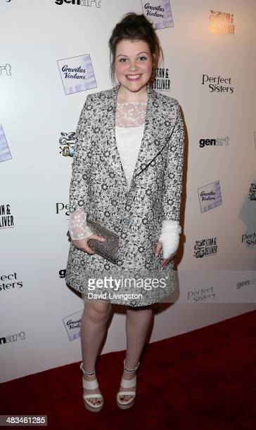 Actress Georgie Henley attends the Los Angeles premiere of Gravitas Ventures' Perfect Sisters at the Landmark Theater on April 8 2014 in Los Angeles...