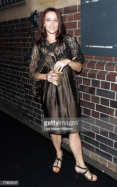 Actress Georgie Parker arrives at the Sydney Theatre Company patron dinner on November 9 2007 in Sydney Australia