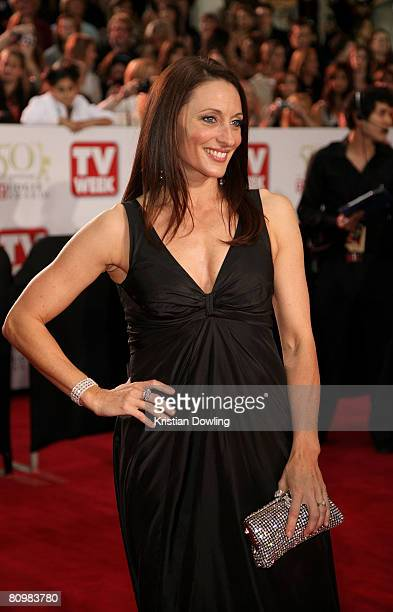 Actress Georgie Parker arrives on the red carpet at the 50th Annual TV Week Logie Awards at the Crown Towers Hotel and Casino on May 4 2008 in...