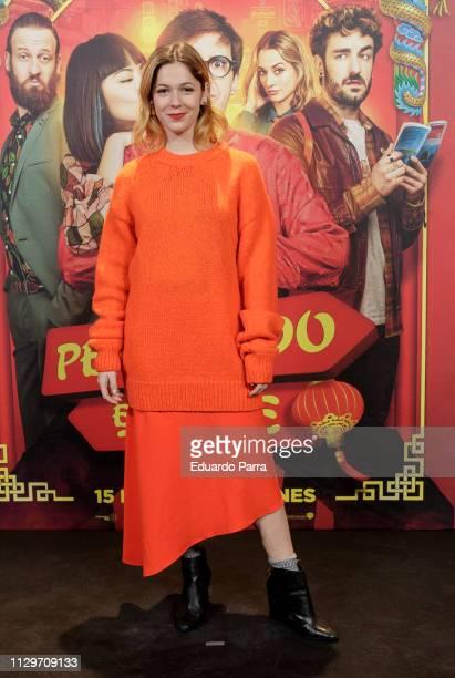 Actress Georgina Amoros attends the Perdiendo el Este' premiere at Palacio de la Prensa cinema] on February 14 2019 in Madrid Spain