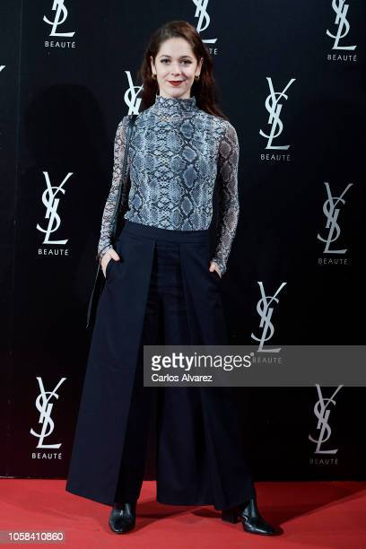 Actress Georgina Amoros attends 'YSL Beaute THE SLIM Rouge PurCouture' party at the Santona Palace on November 6 2018 in Madrid Spain