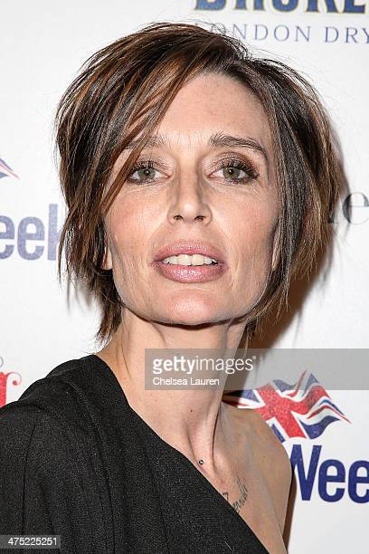 Actress Georgina Cates arrives at the BritWeek Oscar party celebrating past present and future Oscar winners at Hooray Henry's on February 26 2014 in...
