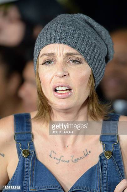 Actress Georgina Cates arrives at the premiere of Paramount Pictures' 'Jackass Presents Bad Grandpa' at TCL Chinese Theatre on October 23 2013 in...
