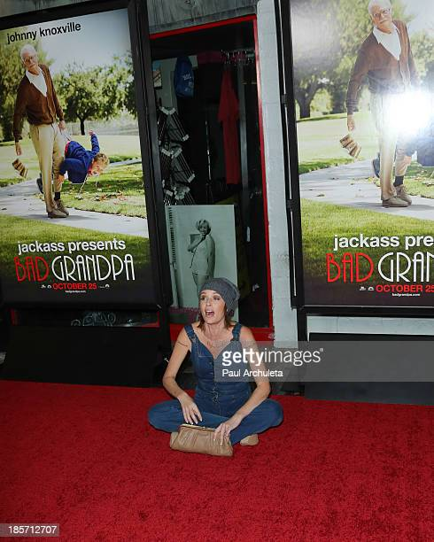 Actress Georgina Cates attends the Los Angeles premiere of Bad Grandpa Presented by Jackass at TCL Chinese Theatre on October 23 2013 in Hollywood...