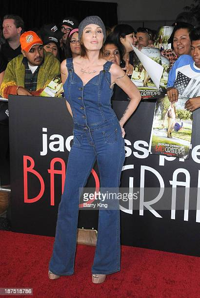 Actress Georgina Cates attends the Los Angeles premiere of 'Bad Grandpa Presented by Jackass' on October 23 2013 at TCL Chinese Theatre in Hollywood...