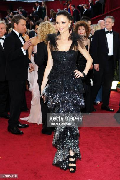 Actress Georgina Chapman arrive at the 82nd Annual Academy Awards held at Kodak Theatre on March 7 2010 in Hollywood California