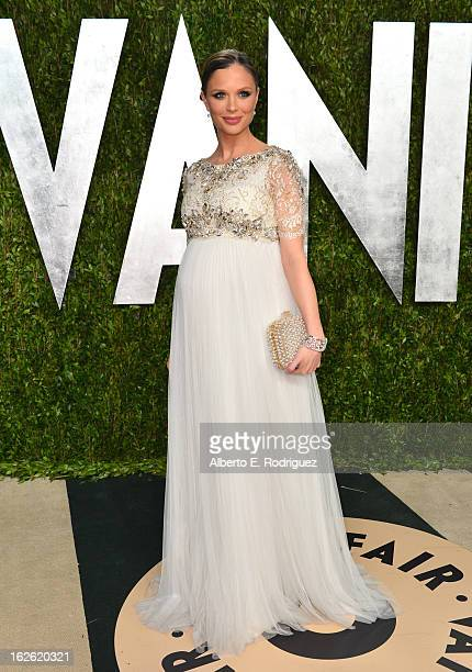 Actress Georgina Chapman arrives at the 2013 Vanity Fair Oscar Party hosted by Graydon Carter at Sunset Tower on February 24 2013 in West Hollywood...