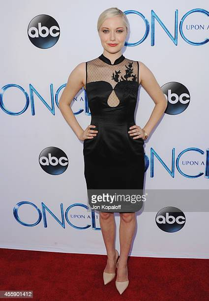 Actress Georgina Haig arrives at ABC's Once Upon A Time Season 4 Red Carpet Premiere at the El Capitan Theatre on September 21 2014 in Hollywood...