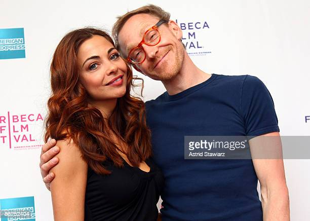 Actress Georgina Verbaan and director Cyrus Frisch attend the premiere of 'Dazzle' during the 2009 Tribeca Film Festival at AMC Village VII on April...