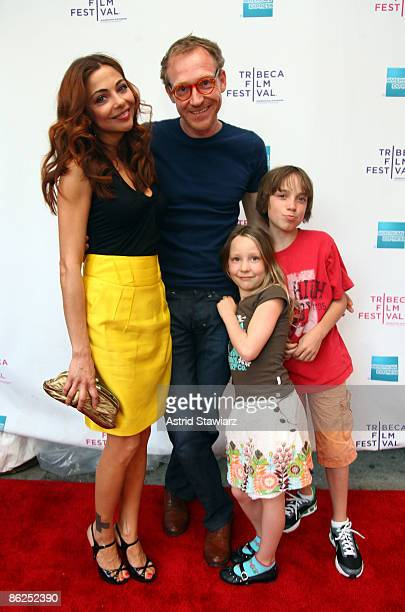 Actress Georgina Verbaan director Cyrus Frisch Kyra Frisch and Ivar Frisch attend the premiere of 'Dazzle' during the 2009 Tribeca Film Festival at...