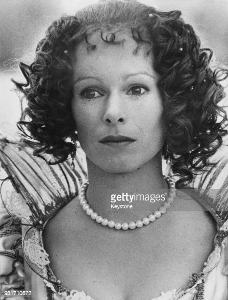 Actress Geraldine Chaplin the daughter of filmmaker Charlie Chaplin filming 'Milady' a sequel to the film 'The Three Musketeers' in Italy September...