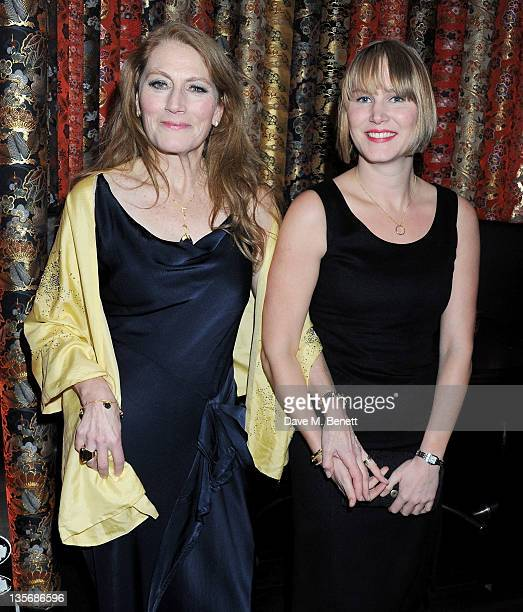 Actress Geraldine James and niece attends an after party celebrating the World Premiere of 'The Girl With The Dragon Tattoo' at Aqua on December 12...
