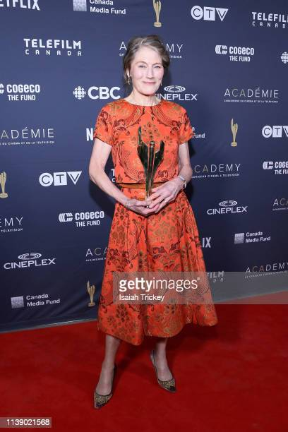 Actress Geraldine James pose on the Winners Wall at the Canadian Screen Awards The CTV Gala Honouring Excellence In Fiction Programming at Heritage...