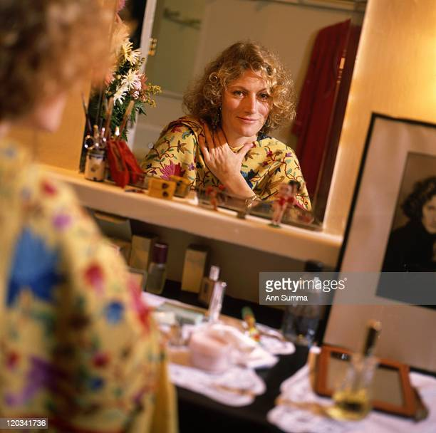 Actress Geraldine James poses for a portrait session backstage at 46th Street Theater in New York City New on December 11 1989