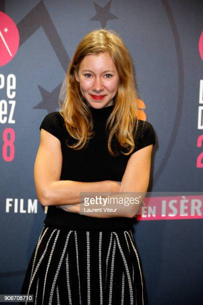 Actress Geraldine Martineau attends 'Sur Un Airbnb' Short Film Premiere during the 21st Alpe D'Huez Comedy Film Festival on January 18 2018 in Alpe...