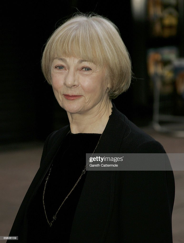 Actress Geraldine McEwan (R) arrives at the UK charity premiere of the animated film 'Wallace & Gromit: The Curse Of The Were-Rabbit' at the Odeon West End October 2, 2005 in London, England. The premiere is in aid of the Wallace & Gromit Children's Foundation.