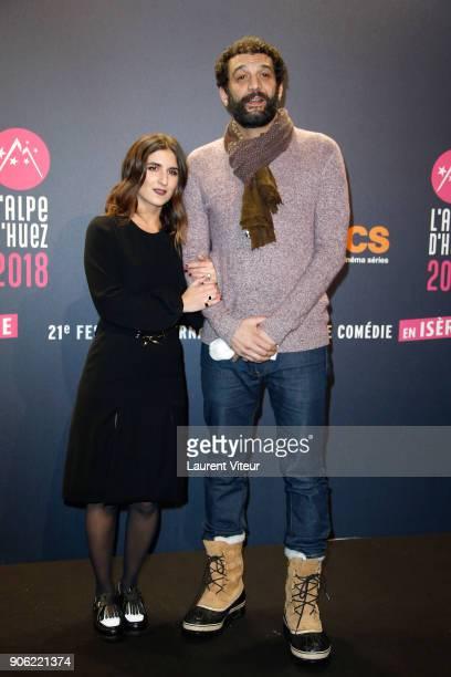 Actress Geraldine Nakache and Actor Ramzy Bedia attend 'Les Aventures de Spirou et Fantasio' Premiere during the 21st Alpe D'Huez International...