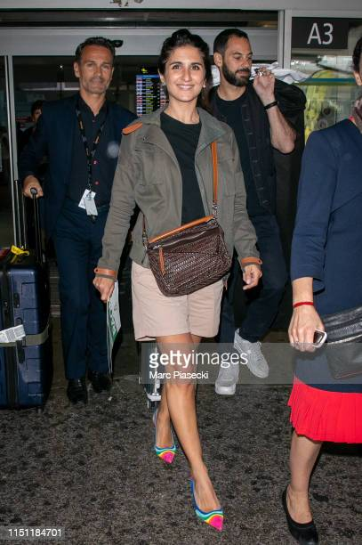 Actress Geraldine Nakache arrives ahead the 72nd annual Cannes Film Festival at Nice Airport on May 23 2019 in Nice France