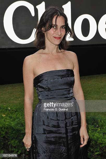 Actress Geraldine Pailhas arrives at the Chloe new Fragance Launch at the Apicius restaurant in Paris on June 16 2010 in Paris France