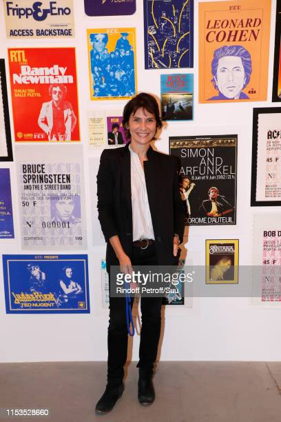 Actress Geraldine Pailhas attends Albert Koski exposes its Rock&Roll Posters Collection at Galerie Laurent Godin on June 03, 2019 in Paris, France.
