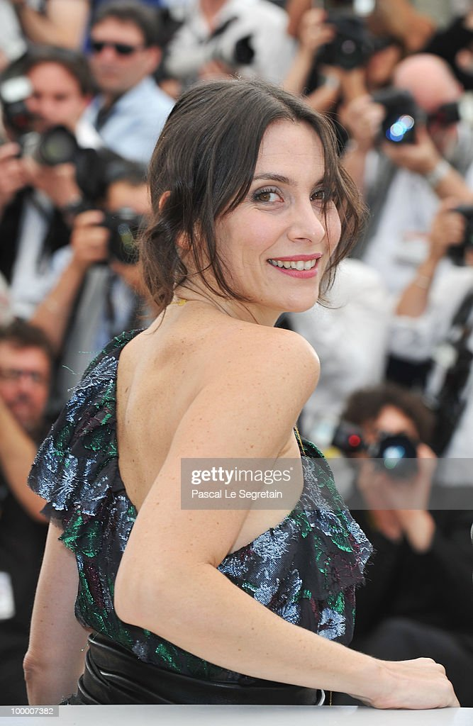 Actress Geraldine Pailhas attends the 'Rebecca H. (Return To The Dogs)' Photocall at the Palais des Festivals during the 63rd Annual Cannes Film Festival on May 20, 2010 in Cannes, France.