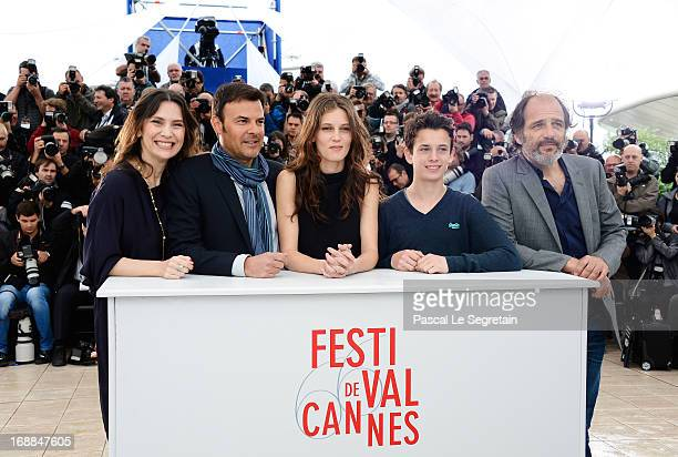 Actress Geraldine Pailhas Director Francois Ozonn actress Marine Vacth actor Fantin Ravat and actor Frederic Pierrot attend the 'Jeune Jolie'...