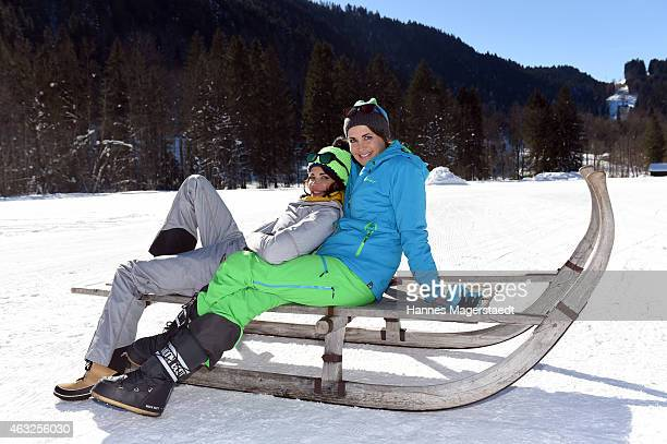 Actress Gerit Kling and Anja Kling attend the 'Star Biathlon 2015' on February 12 2015 in GarmischPartenkirchen Germany