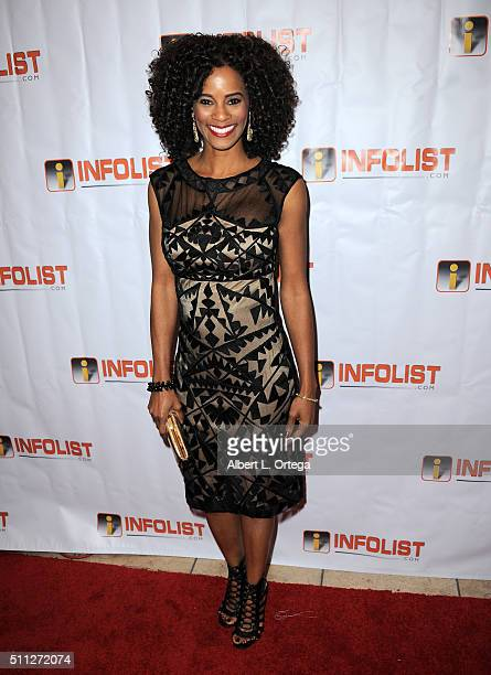 Actress Germany Kent arrives for the InfoList PreOscar Soiree And Birthday Party for Jeff Gund held at OHM Nightclub on February 18 2016 in Hollywood...