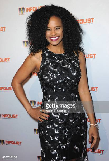 Actress Germany Kent attends the INFOListcom's PreOscar Soiree and Jeff Gund Birthday Party held at Mondrian Sky Bar on February 27 2018 in West...