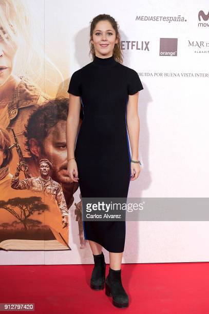 Actress Gerogina Amoros attends 'El Cuaderno De Sara' premiere at the Capitol cinema on January 31 2018 in Madrid Spain