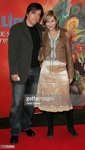Actress Gesine Cukrowski and partner Michael Helfrich arrive for the Dralion Cirque de Soleil circus premiere August 30 2006 in Berlin Germany