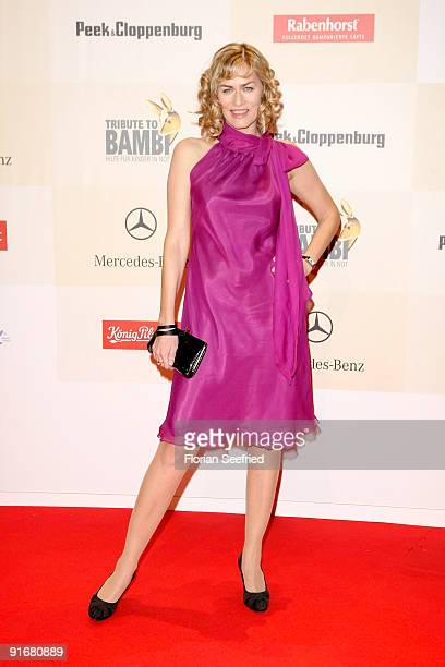 Actress Gesine Cukrowski arrives for the 'Tribute To Bambi 2009' at the station on October 9 2009 in Berlin Germany