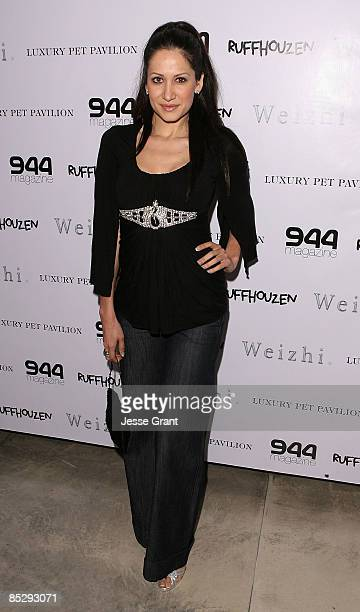 Actress Gia Bay attends Barking Boutique fundraiser hosted by Ashley Paige at 944 Magazine Headquarters on March 6 2009 in West Hollywood California