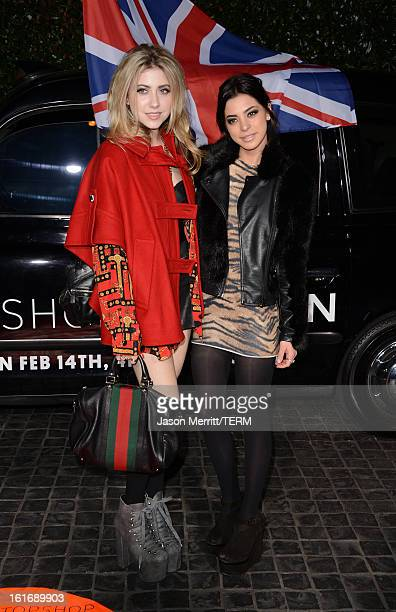 Actress Gia Mantegna and Gina Mantegna arrives at the Topshop Topman LA Opening Party at Cecconi's West Hollywood on February 13 2013 in Los Angeles...