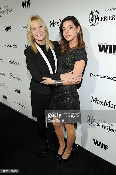 Actress Gia Mantegna and mother Arlene Vrhel attend the 6th Annual Women In Film PreOscar Party hosted by Perrier Jouet MAC Cosmetics and MaxMara at...