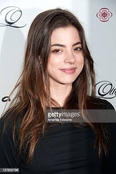 Actress Gia Mantegna arrives at the launch of actress Jodi Lyn O'Keefe's new jewelry collection 'Q' at Dari Boutique on January 23 2012 in Studio...