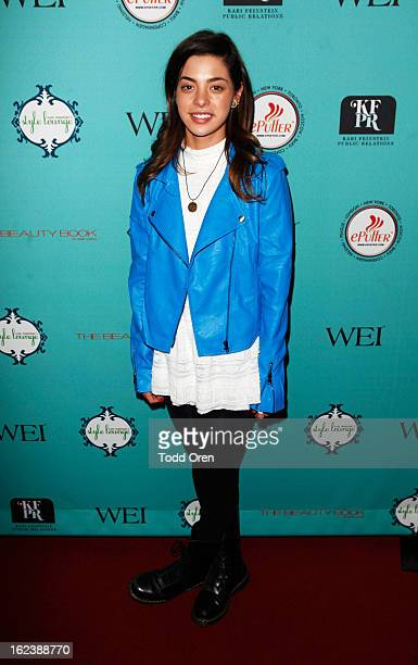 Actress Gia Mantegna attends Kari Feinstein's PreAcademy Awards Style Lounge at W Hollywood on February 22 2013 in Hollywood California