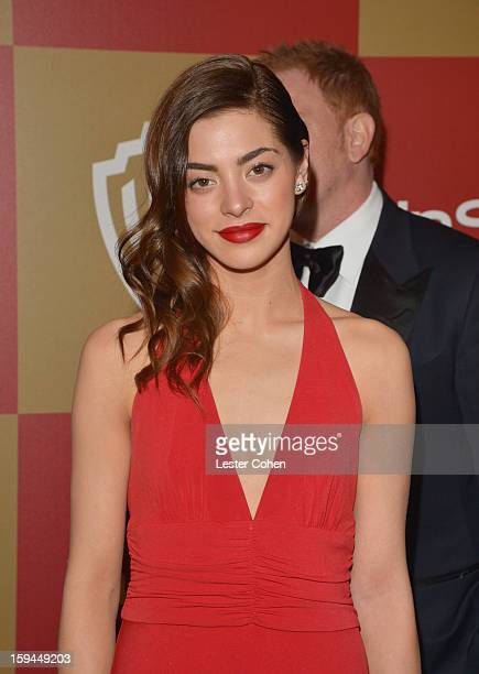 Actress Gia Mantegna attends the 2013 InStyle and Warner Bros 70th Annual Golden Globe Awards PostParty held at the Oasis Courtyard in The Beverly...