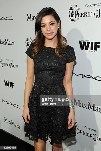 Actress Gia Mantegna attends the 6th Annual Women In Film PreOscar Party hosted by Perrier Jouet MAC Cosmetics and MaxMara at Fig Olive on February...
