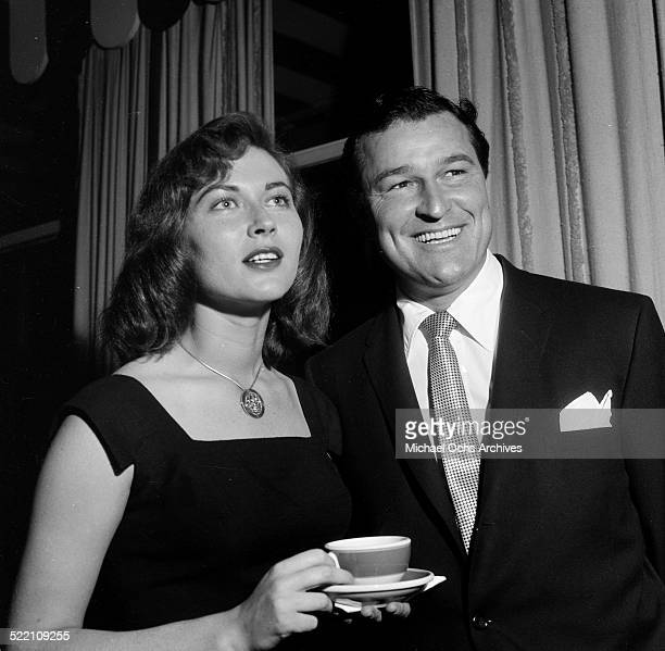 Actress Gia Scala and Joe Perrin attend an event in Los AngelesCA