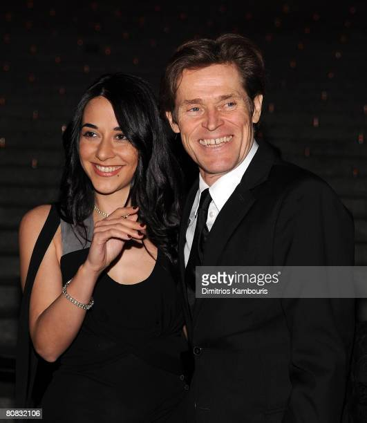 Actress Giada Colagrande and actor Willem Dafoe attend the 7th Annual Tribeca Film Festival Vanity Fair Party at the State Supreme Courthouse on...