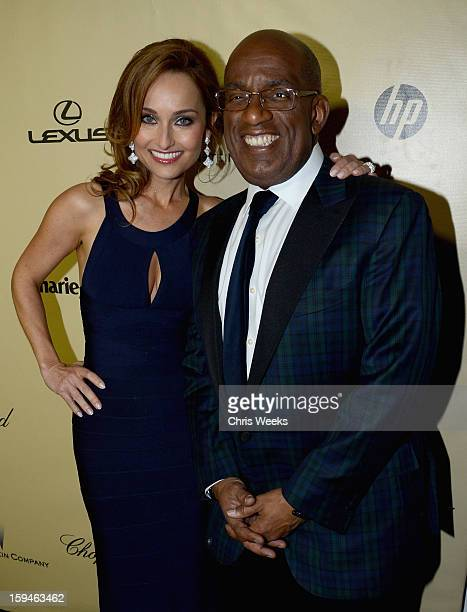 Actress Giada De Laurentiis and Al Roker attend The Weinstein Company's 2013 Golden Globe Awards after party presented by Chopard, HP, Laura Mercier,...