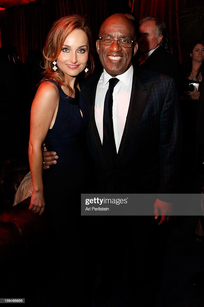 Actress Giada De Laurentiis (L) and television personality Al Roker attend the The Weinstein Company's 2013 Golden Globe Awards after party presented by Chopard, HP, Laura Mercier, Lexus, Marie Claire, and Yucaipa Films held at The Old Trader Vic's at The Beverly Hilton Hotel on January 13, 2013 in Beverly Hills, California.