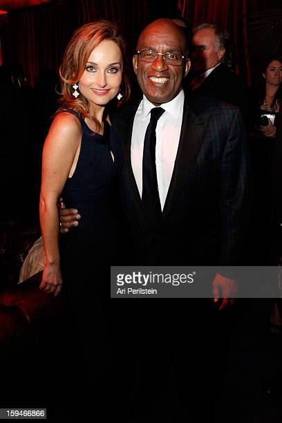 Actress Giada De Laurentiis and television personality Al Roker attend the The Weinstein Company's 2013 Golden Globe Awards after party presented by...